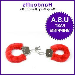 Adult Handcuffs Up Furry Fuzzy Sexy Slave Hand Ring Ankle Cu