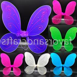 Adult Pixie Wings Fairy Pink Blue Large Butterfly Tu Tu Dres