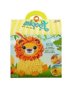 Alex Loopies Yarn and Plush Lion Kids DIY Craft Kit