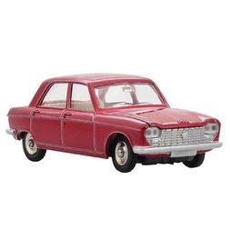 Atlas Diecast 1:43 ALLOY DINKY TOYS 510 Red PEUGEOT Car Mode