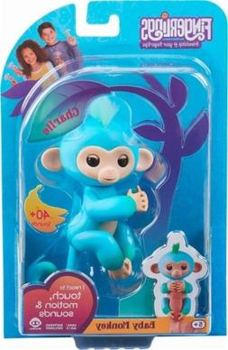 New Authentic Fingerlings Charlie Blue Teal Baby Monkey By W