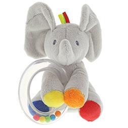 Baby GUND Flappy the Elephant Stuffed Animal Rattle Plush To