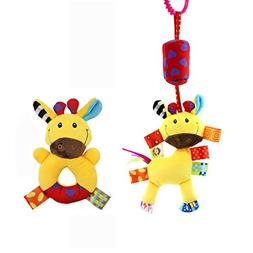 Godr Baby Hanging Toy, Infant Plush Adorable Animal Wind Chi