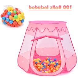 Baby Kid Outdoor Indoor Princess Play Tent Playhouse Ball Pi