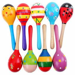 Baby Kids Sound Music Gift Toddler Rattle Musical Wooden Int