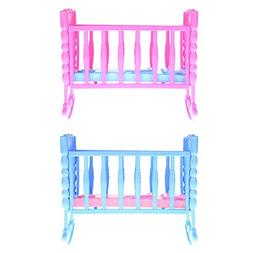 Baby Rocking Cradle Bed,amazingdeal Girl Mini Doll Toy Furni