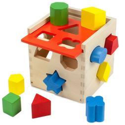 Baby Shape Sorter Developmental Educational Toddler Toy Wood