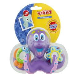 Baby Toy Bath Nuby Octopus Floating Tub 3 Rings Toss Toddler