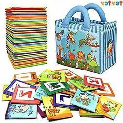 Baby Toy Zoo Series 26pcs Soft Alphabet Cards with Cloth Bag