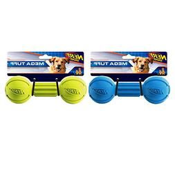 Nerf Dog Barbell Chew Dog Toy, Large, , Blue and Green