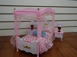 Barbie Size Dollhouse Furniture- Master Bed Room Set