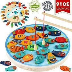 Basic & Life Skills Toys CozyBomB Magnetic Wooden Fishing Ga