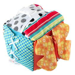 Basic Life Skills Cube Cloth Book Zip Snap Butto Buckle Lace