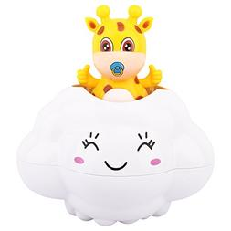 Zooawa Baby Bath Time Toy, Deer Hide in Rain Cloud Kids Bath