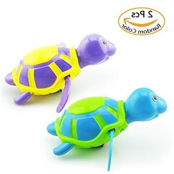 2 Pack Baby Bath Toys Clockwork Turtle For Toddlers Boys Gir
