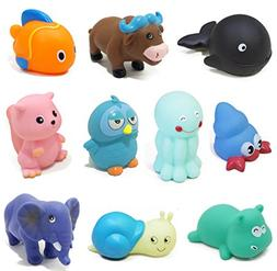 Candy86 Baby Bath Toys Animal Swimming Sounding Toy Early Ed