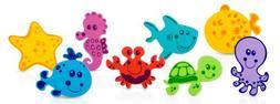 Nuby 16 Piece Bath Tub Foam, Animal Characters