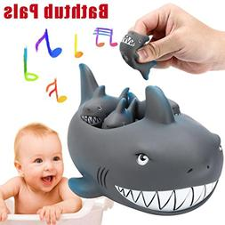 Bath Tub Toy For Kids OVERMAL Shrilling Rubber Cute Shark Fa