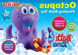 bathtime fun octopus hoopla purple bath toy