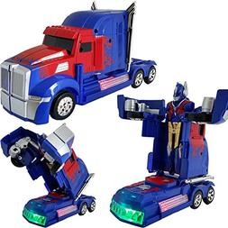 Battery Operated Bump and Go Transformers Toys for Kids –