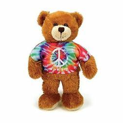 Plushland Bear Plush Stuffed Animals Toys Gifts Tie Dye Peac