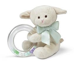 Bearington Baby Lamby Plush Stuffed Animal Cream Lamb Shaker