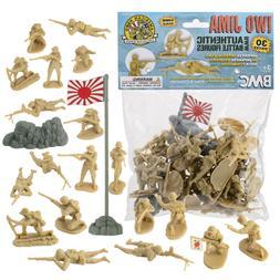 BMC WW2 IWO JIMA Japanese Imperial Soldiers Tan Plastic Japa