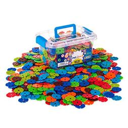 Creative Kids Flakes - 600 Piece Interlocking Plastic Disc S