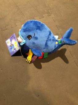 "BUCKLE TOY ""Blu"" Whale - Toddler Early Learning Basic Life S"