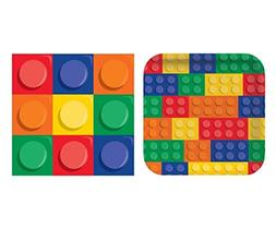 Building Blocks Party Pack - Dinner Plates and Napkins