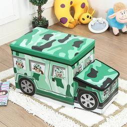 Cartoon Car shaped <font><b>Storage</b></font> Stool Childre