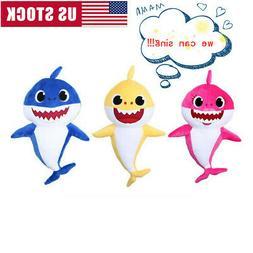 Cartoon Plush Singing Toys Fox Shark Soft Animal Dolls Child