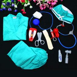 Child's Doctor Dress up Surgeon Costumes Pretend Play Toys B