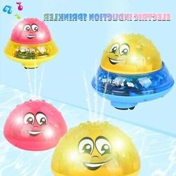 Children Electric Light Induction Sprinkler Water Spray Toy