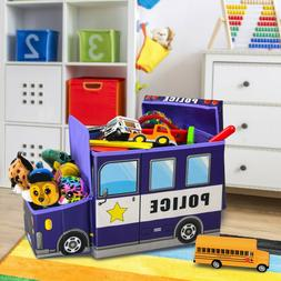 Children's Decorative Storage bin, , Police Van,