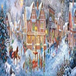 Buffalo Games Christmas Village Panoramic Jigsaw Puzzle From