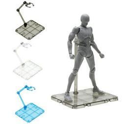 Clear Action Figure Holder Display Stand Base for HG RG SHF