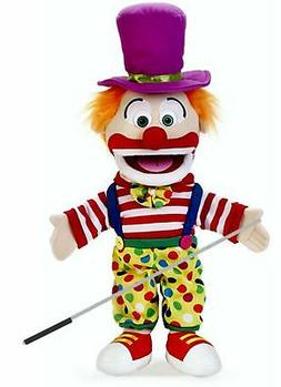Silly Puppets Clown Glove Puppet Bundle 14 inch with Arm Rod
