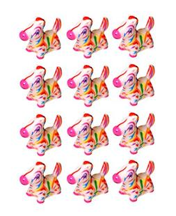 SNInc. Colorful Rubber Unicorn - Pack Of 12 Animal Party Fav