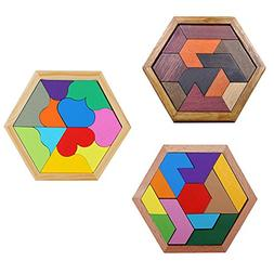PlayMaty Colorful Wooden Tangram Puzzle Montessori Education
