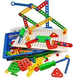 Skoolzy Educational Preschool Building Toys - 97pc Kids Cons