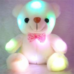Creative Light Up LED Teddy Bear Stuffed Plush Toys Doll Kid