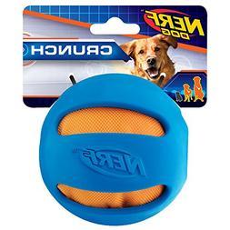 Nerf Dog Crunch and Squeak Rubber Ball Dog Toy, Medium/Large