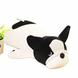Cute Plush Stuffed Animal Pillow Soft Huggable Bulldog Doll