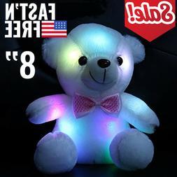 Toys For Girls LED Stuffed Bear Toy Kids Night Light Lamp Co