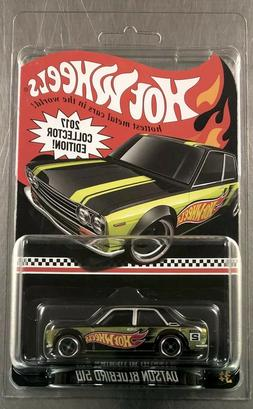 HOT WHEELS DATSUN BLUEBIRD 510 GREEN PAINT 2017 COLLECTOR ED