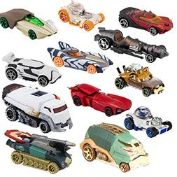 Hot Wheels (Set of 12 Die Cast Star Wars Toys Characters Car