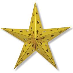 Beistle 1-Pack Dimensional Foil Star, 24-Inch, Gold