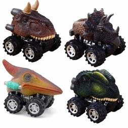 Dinosaur Toys, Pull Back Dino Cars with Big Tire for 2 to 5