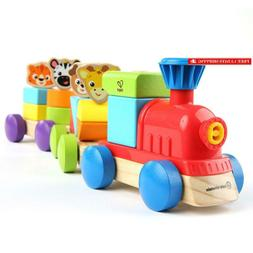Baby Einstein Discovery Train Wooden Train Toddler Toy, Ages